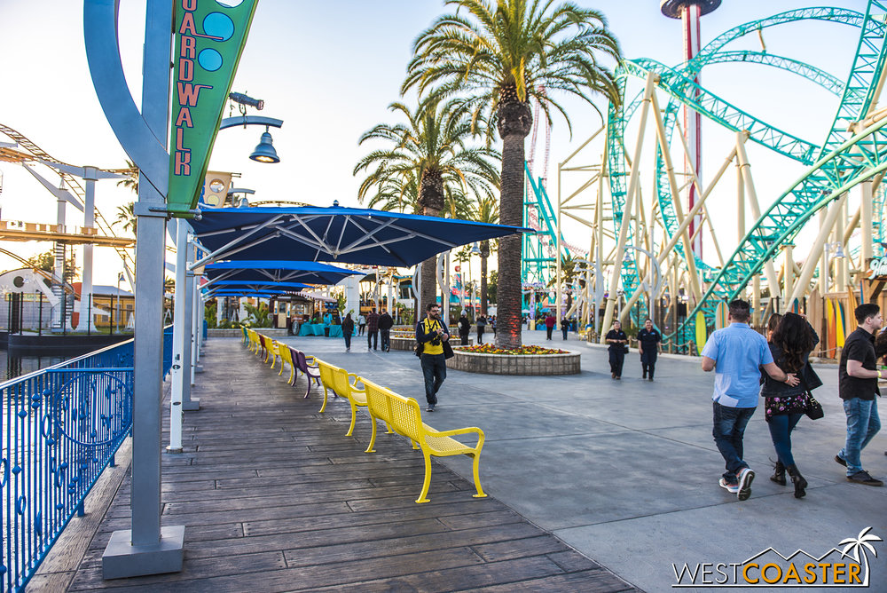 The Boardwalk has largely reopened up, however, and it looks great.
