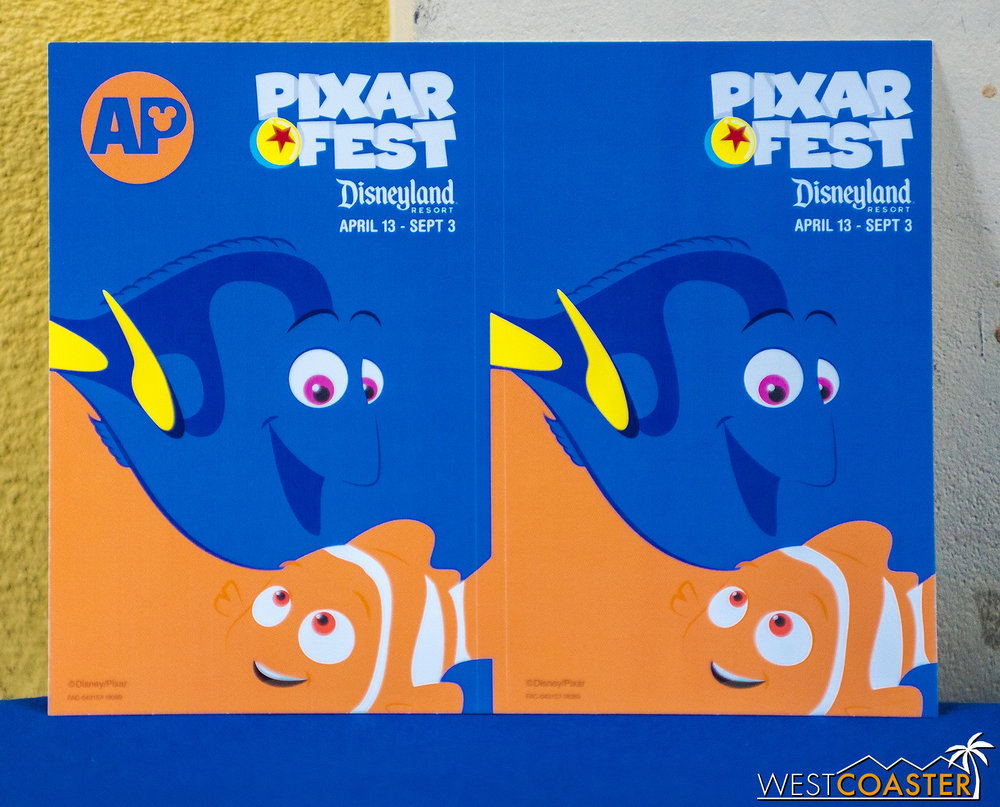 New decals last week for Pixar Fest.