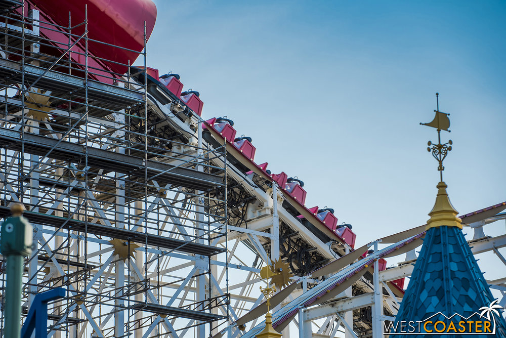 Screamin' was testing last Friday.