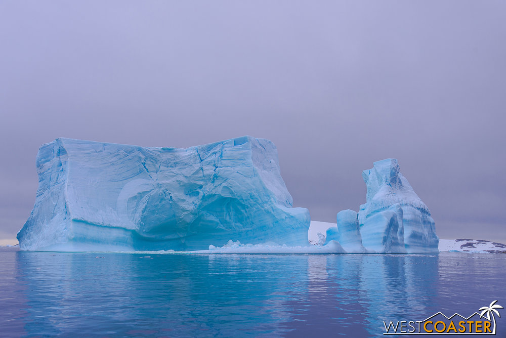 There are plenty of massive icebergs in Pléneau Bay.