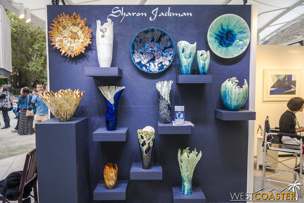 Sharon Jackman, a ceramics artist, one of four artists featured at the preview.