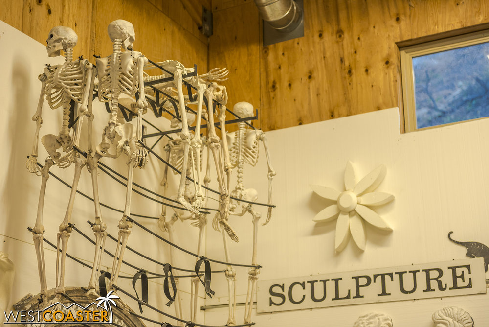 Spooky skeletons, possibly to be use in the Pageant, possibly not.