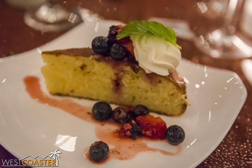A scrumptious olive oil cake.
