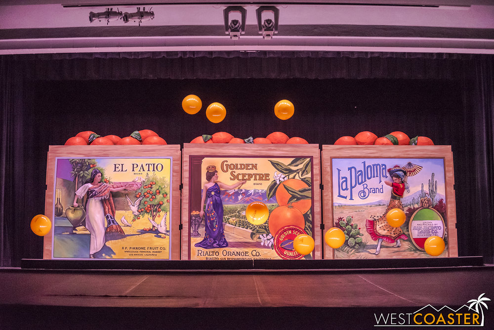 The preview ended with some fun beach balls / oranges tossed on the stage.  But quite an impressive taste of what the Pageant of the Masters offers!