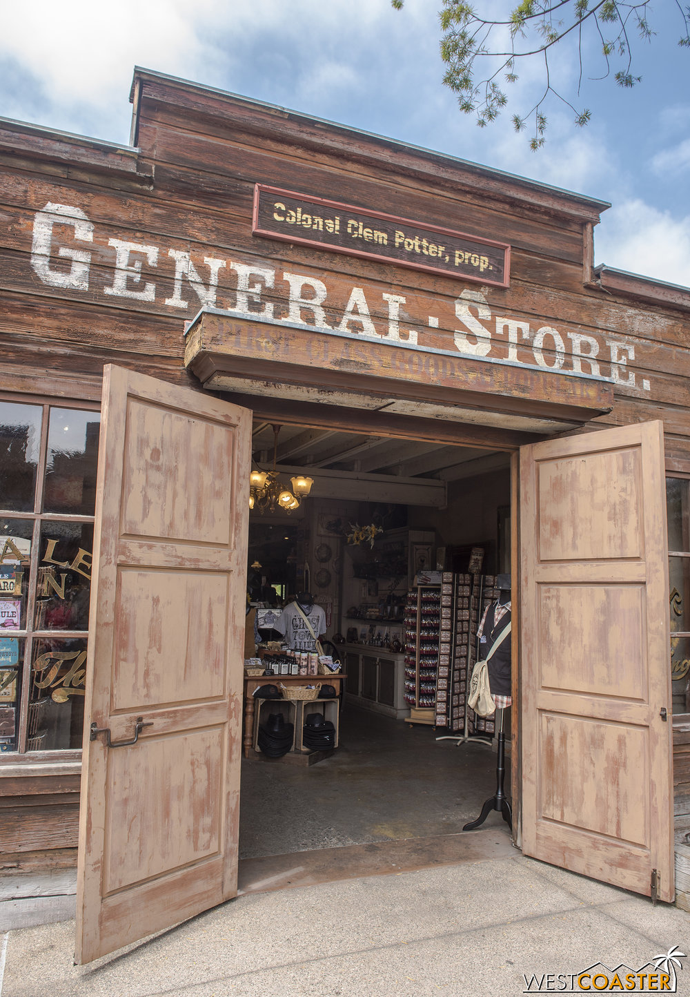 The General Store is home to a new character for the 2018 Ghost Town Alive!  It's also an actual store, like usual.