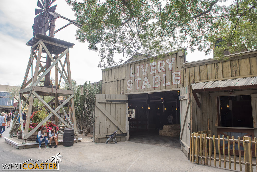 The Livery Stable is open to guests as well but sometimes becomes the scene of some sort of interaction with a Ghost Town Alive! cast member.