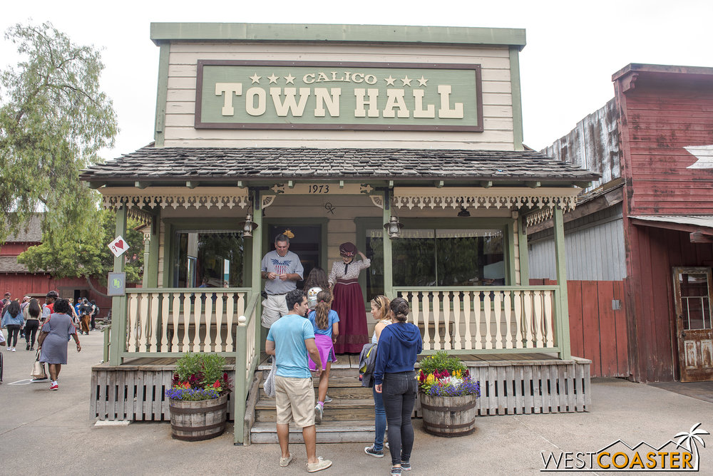 Town Hall is once again host to the mayor and his wife.