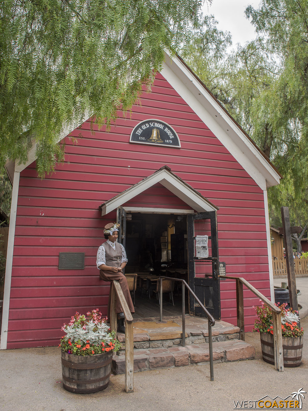 The Schoolhouse is open throughout the year but plays a role in Ghost Town Alive as well.