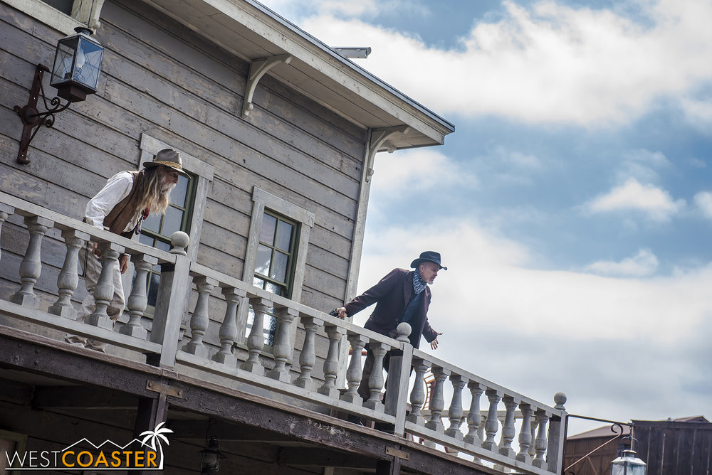 When the posse arrives at the Calico Saloon, they find the entire Mayfield clan there!