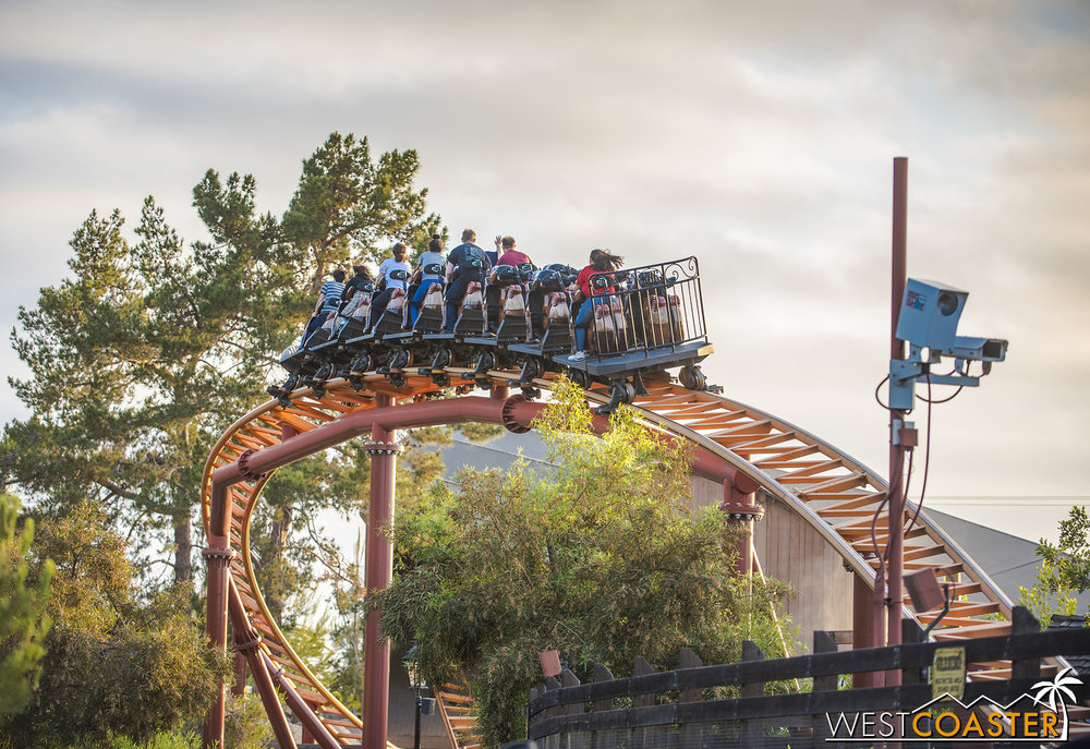 The coaster that ends just as it gets exciting.