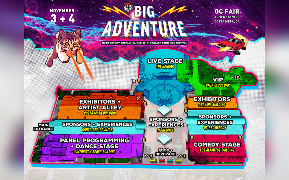 Festival map courtesy of Big Adventure Festival