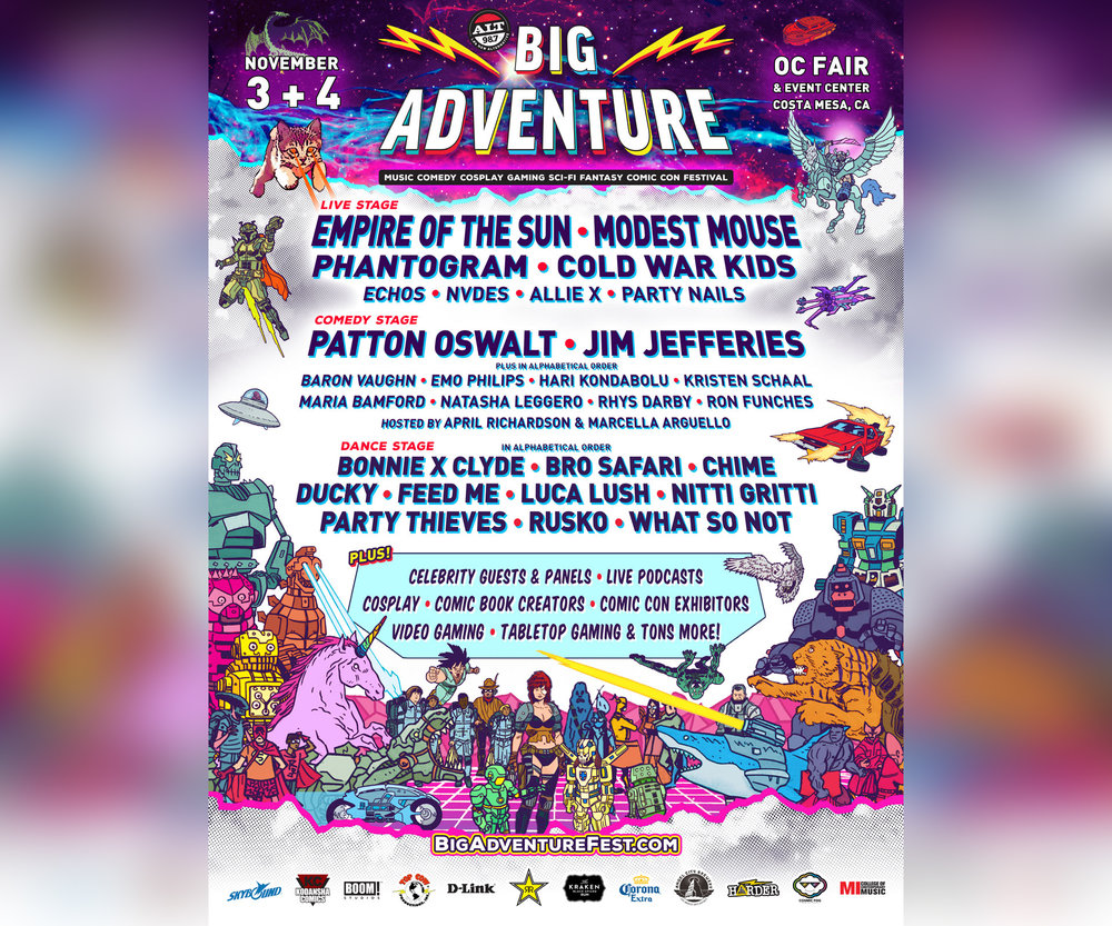 Festival lineup poster courtesy of Big Adventure Festival.