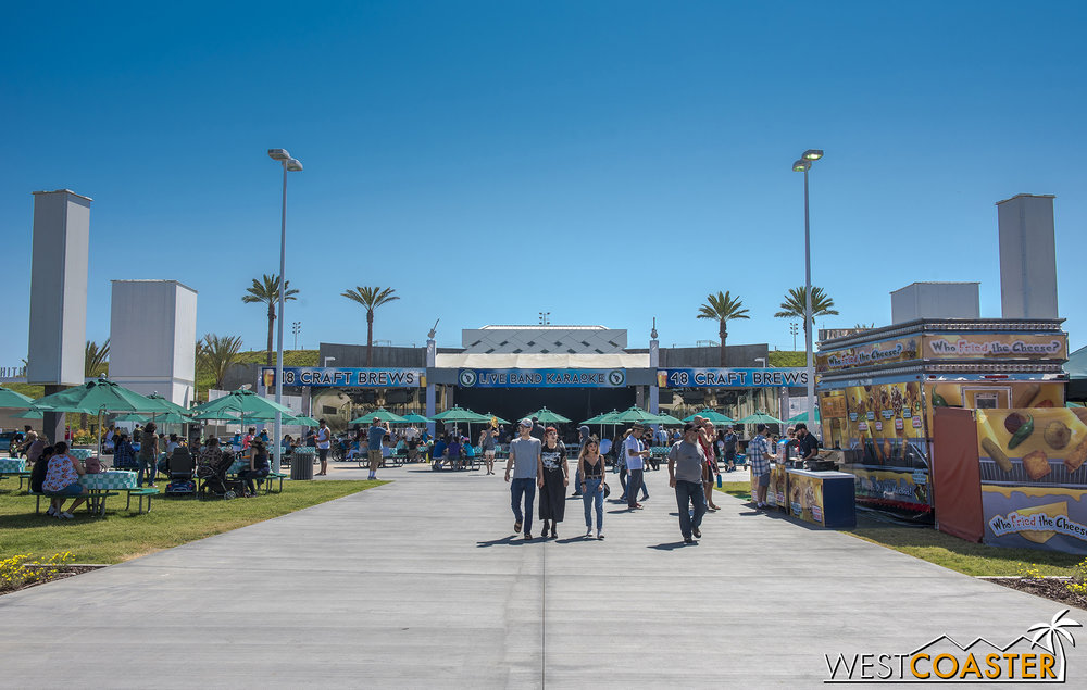 Plaza Pacifica is mainly home to the Pacific Amphitheater, which offers concerts and stand-up comedy performances throughout the Fair run.  Guests who buy tickets to these shows also can get into the Fair itself for free with the same ticket—if it's used the same day.