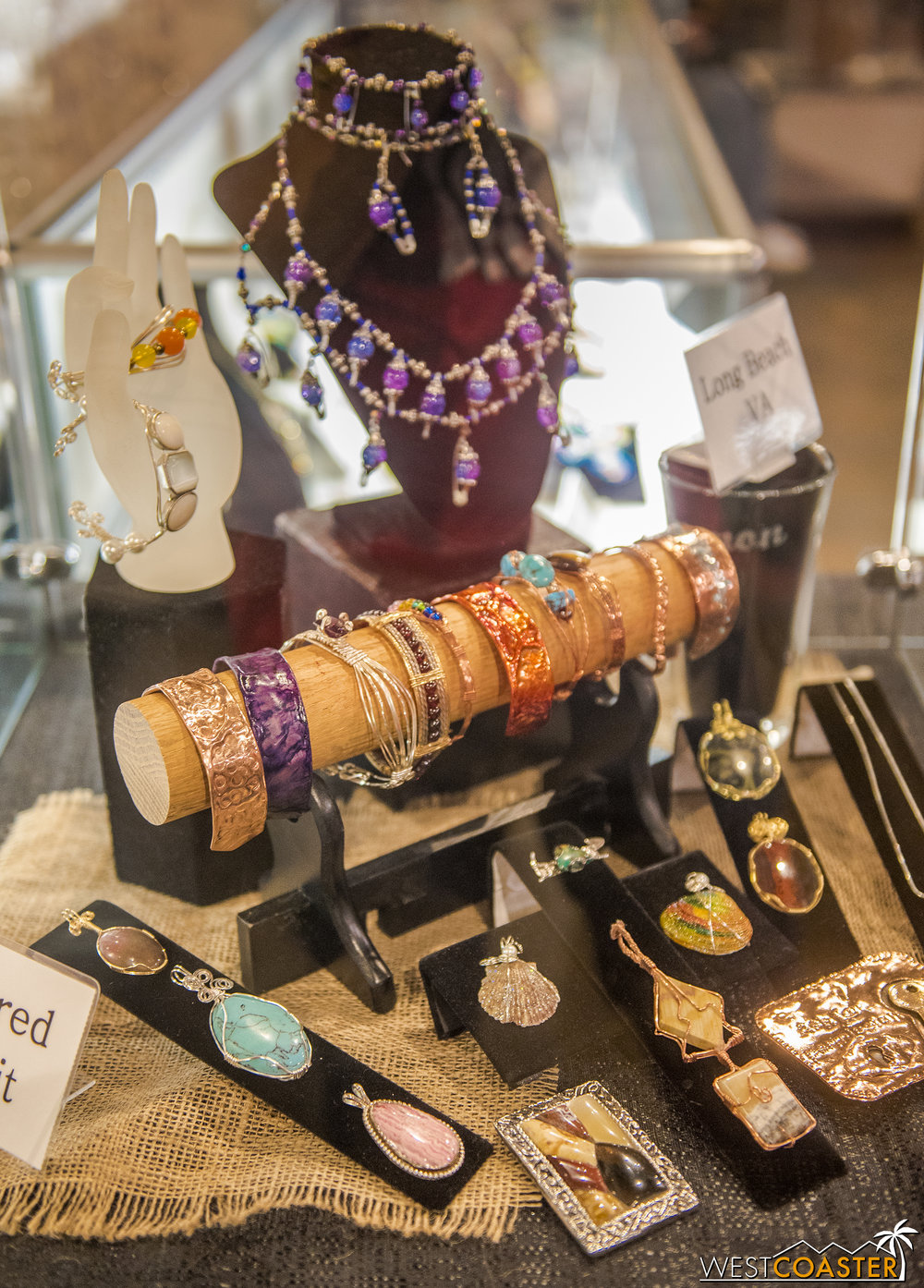 Also featured were home-made jewelry.
