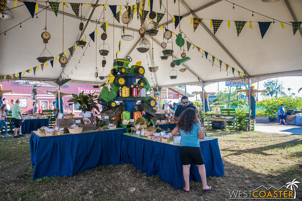 Moving over to Centennial Farms, the fruit and vegetable competitions can be found on display.