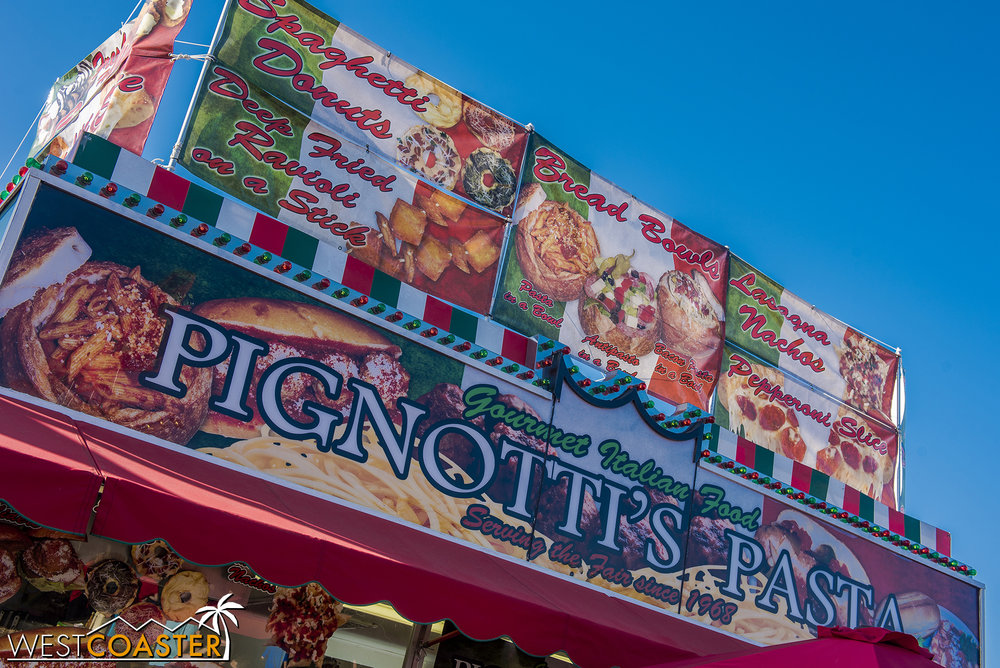 Pignotti's Italian, also in Centennial Farms, has Lasagna Nachos.  They were promising, but unfortunately ended up bland.  I wouldn't recommend them, at least not from here.
