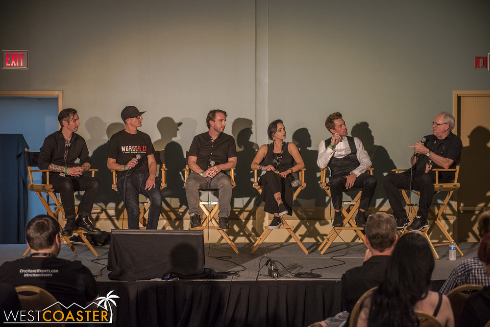 A large group of creative minds was on hand to discuss new trends outside the box in immersive horror attractions.