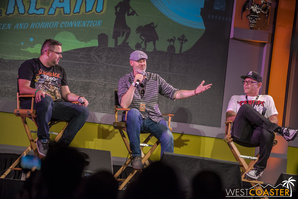 Mike Aiello of Halloween Horror Nights Orland and Chris Williams and John Murdy of Horror Nights Hollywood gave a lengthy but content-packed presentation for Horror Nights on both coasts!