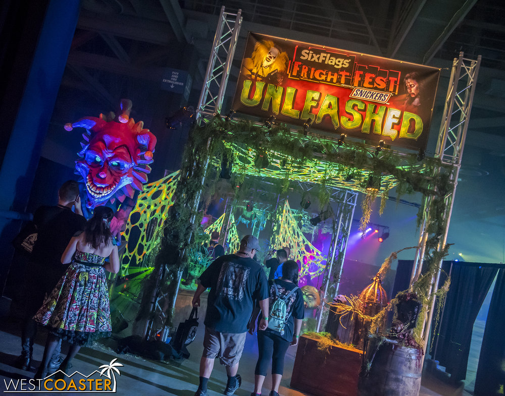 Fright Fest provided a fun scare zone for those entering the Hall of Shadows.