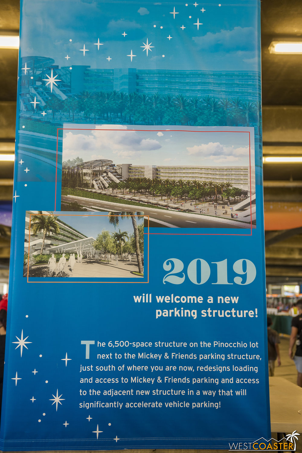 Banners detailing a bit of the parking structure plans have been up in the security zone of the Mickey and Friends Parking Structure for a while, now.  I just never took pictures of them.