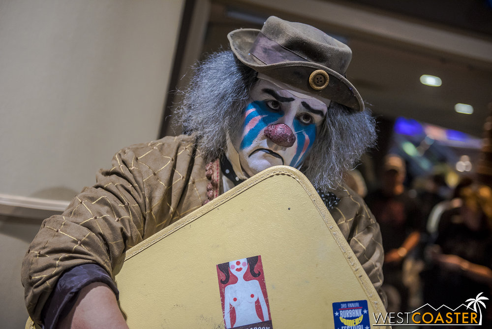Cecil the Sad Clown was one of many performers at the Midsummer Scream convention.