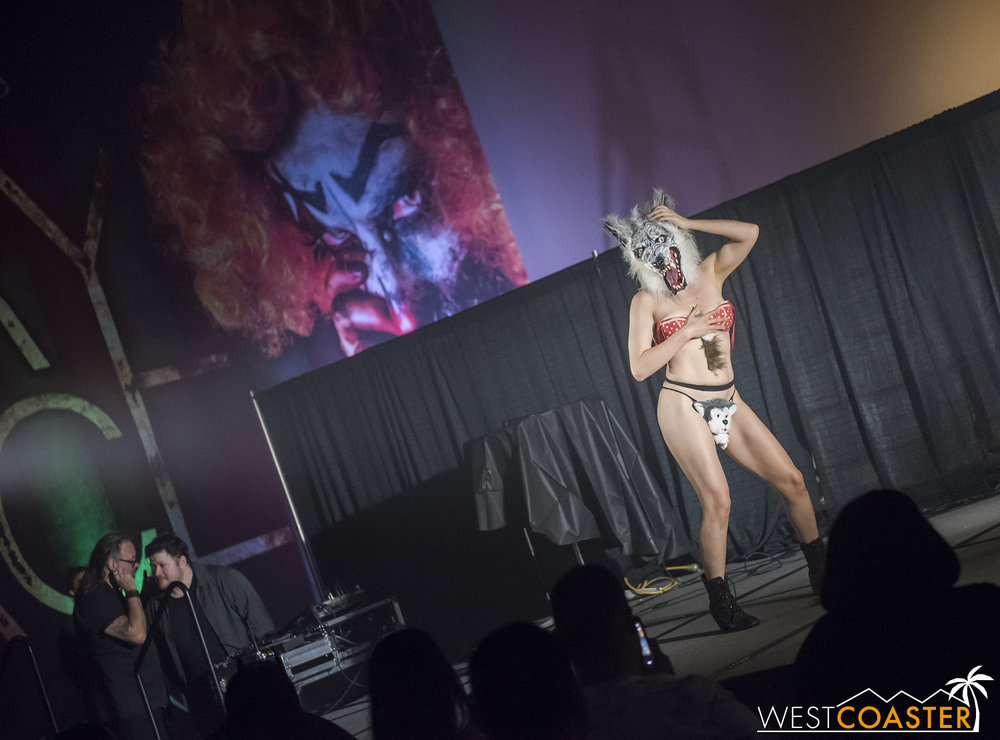 Ever wanted to see a werewolf do a striptease? The Peepshow Menagerie had it!