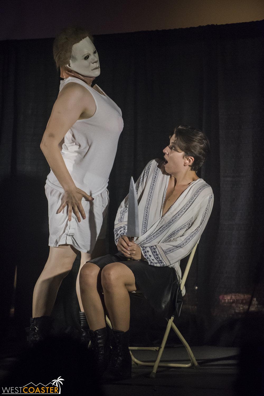 Or perhaps Michaela Myers? It was a killer lap dance.