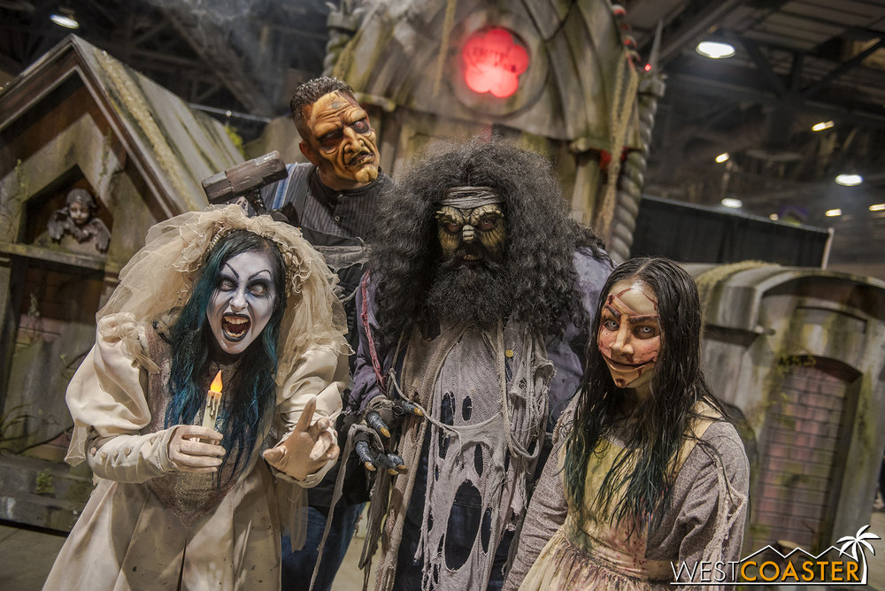 The Knott's Scary Farm ghouls were on hand for photo ops.