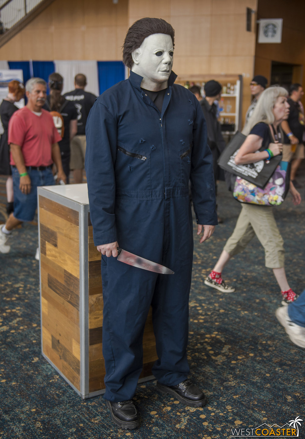 Michael Myers was a common sight at Midsummer Scream.
