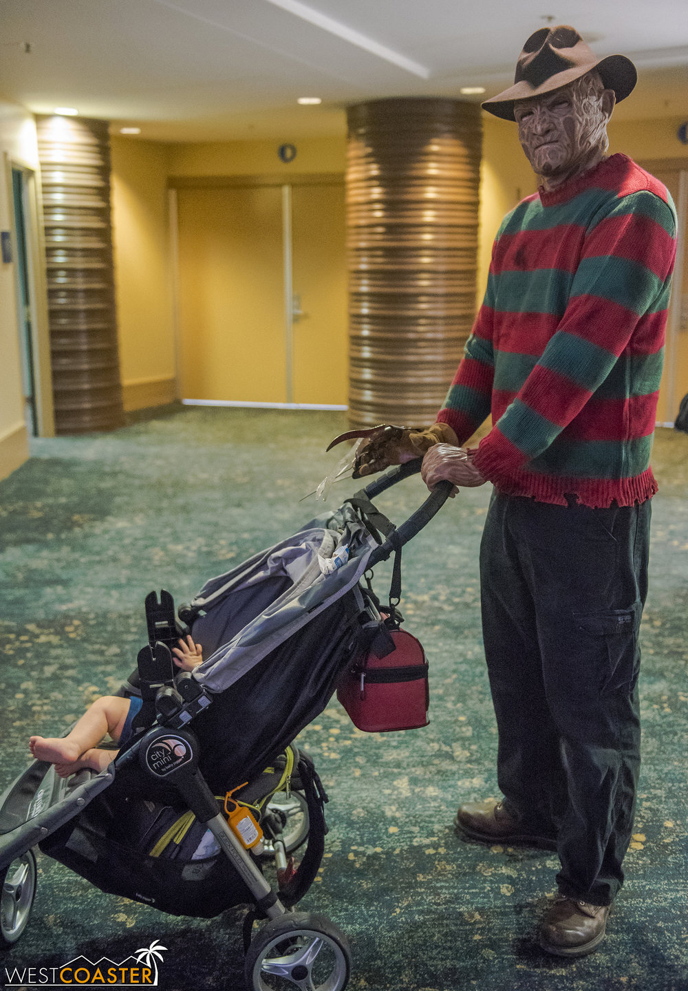 This was the only place where Freddy Krueger pushing an actual baby in a stroller would not be considered disturbing and worthy of calling the police.