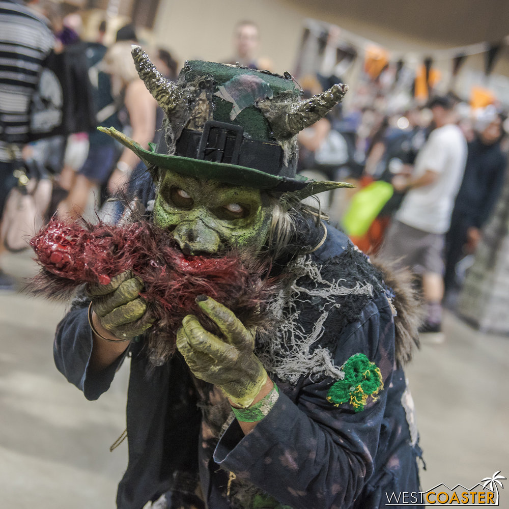 There was no shortage of disturbing monsters at Midsummer Scream.