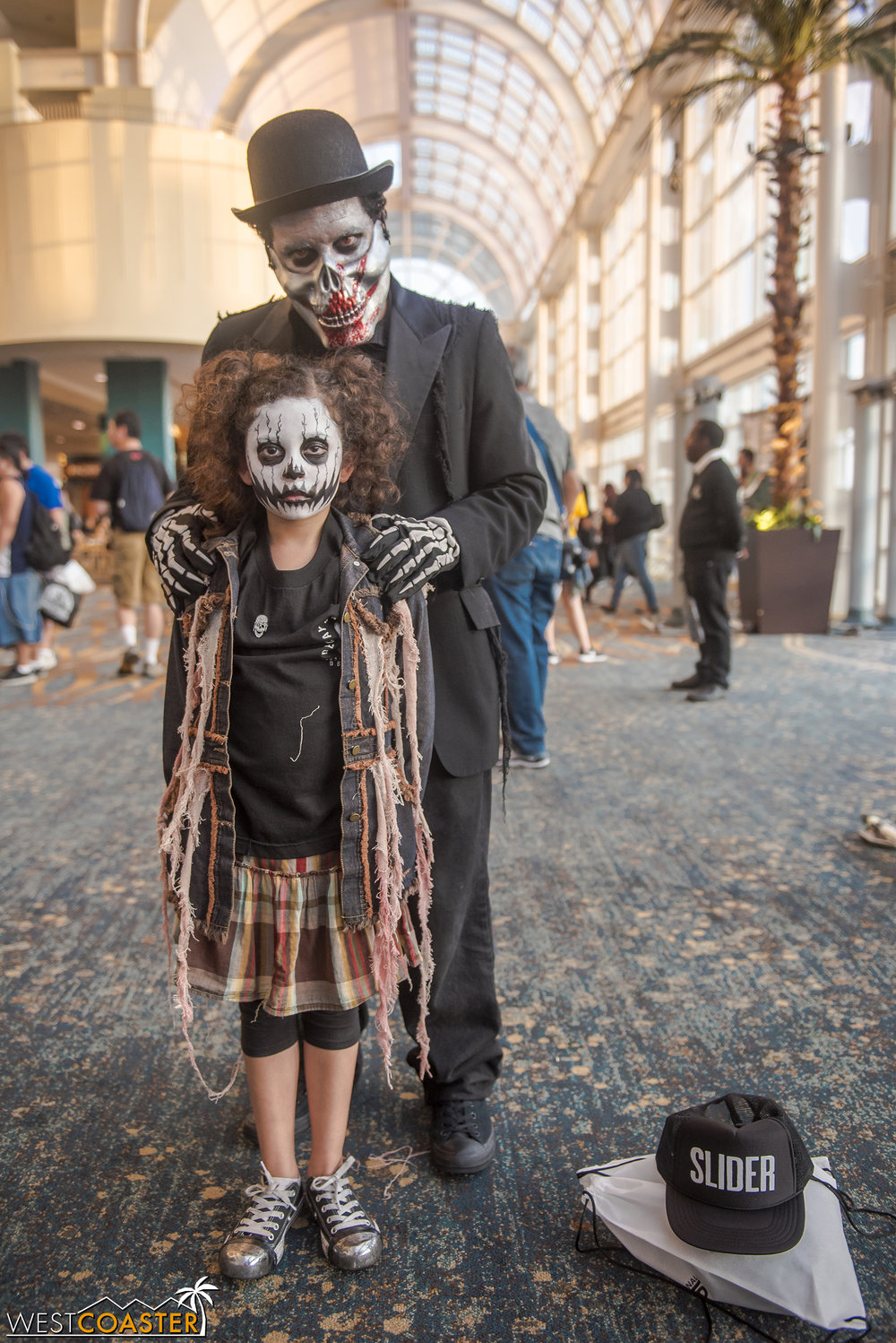 A repeat fixture at Midsummer Scream, this father/daughter duo could frequently be seen hanging around with the Decayed Brigade.
