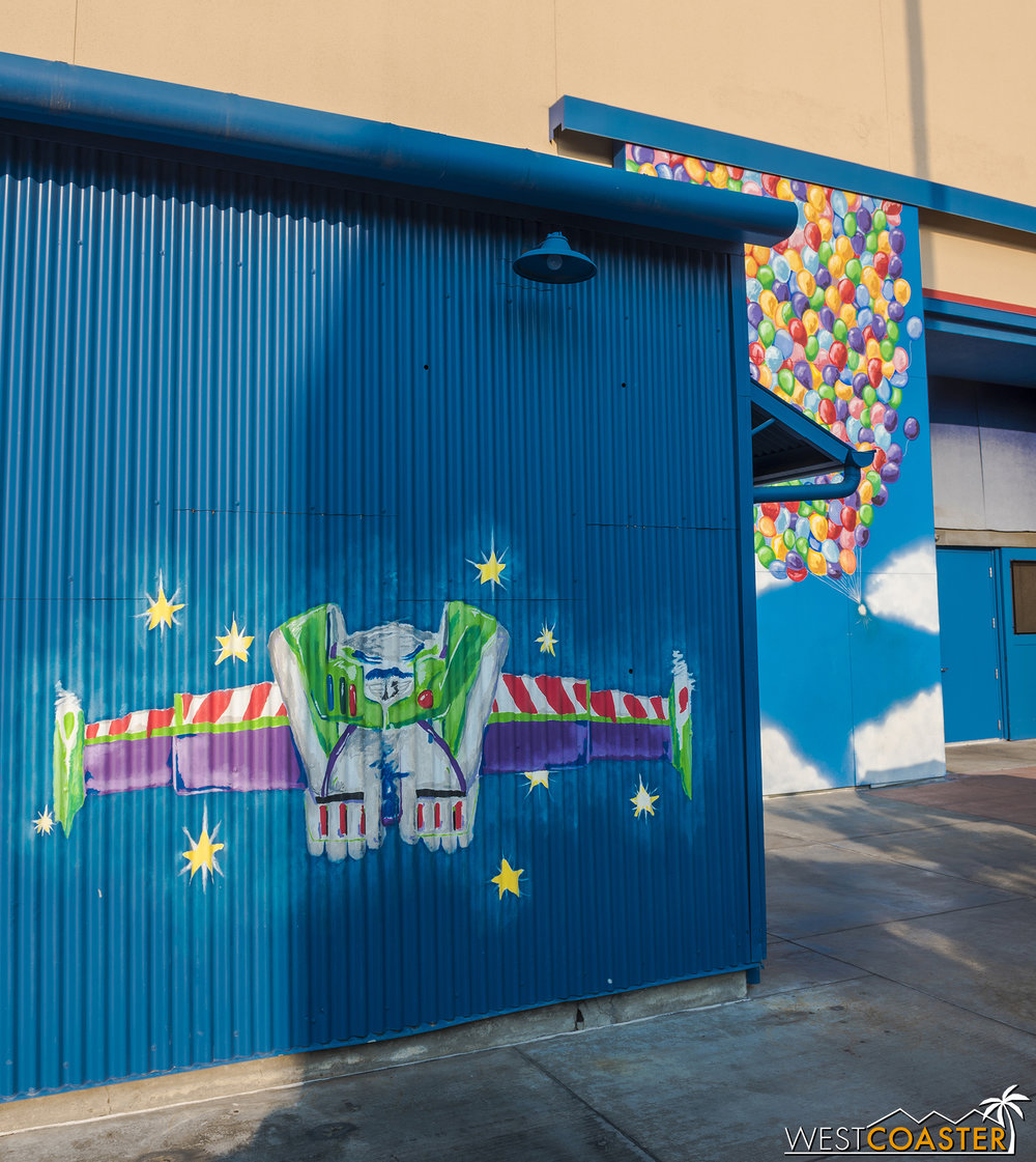 There are Instagram-friendly photo ops with fun Pixar murals for guests to pose with.