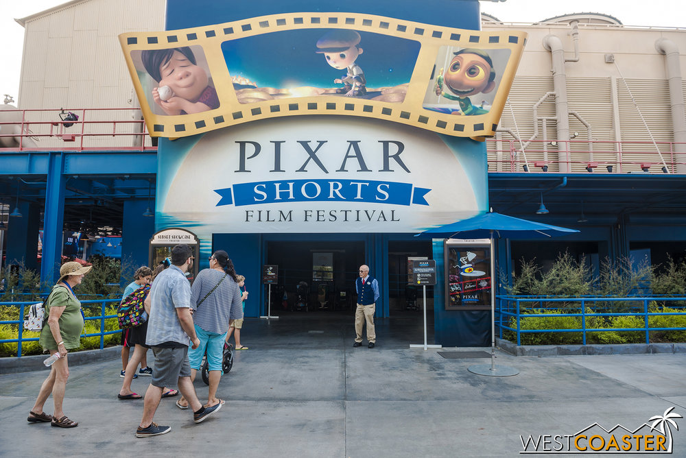 The Pixar Shorts Film Festival has been running almost all Pixar Fest long.  There are three different films than April right now.