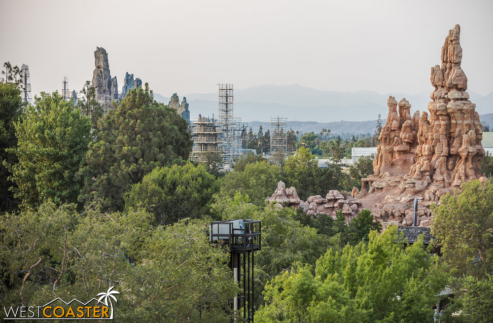 Going up high from Tarzan's Treehouse…