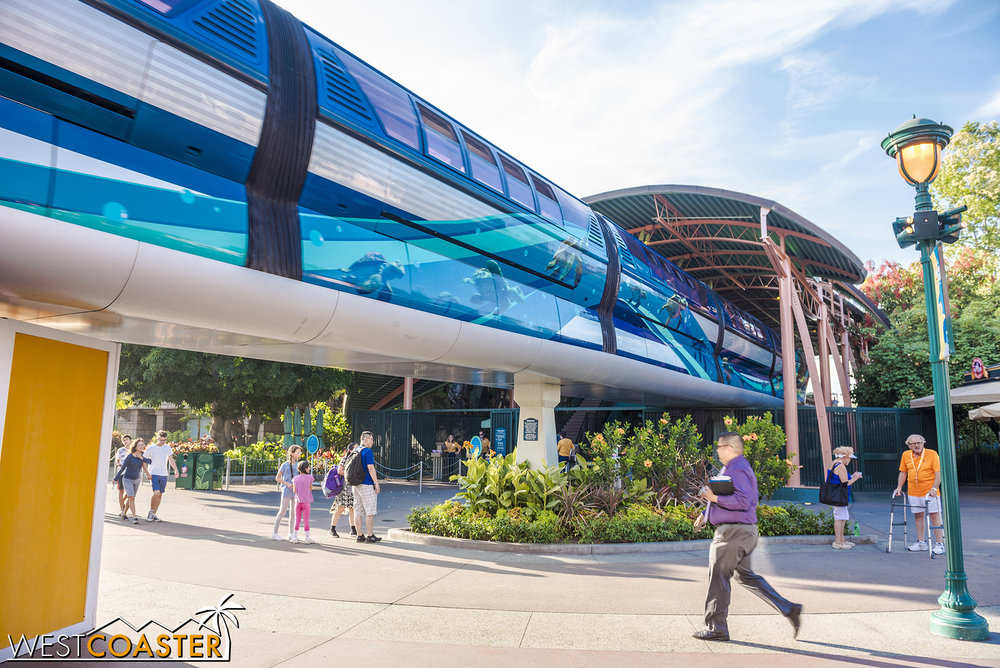 This monorail wrap goes away next week.