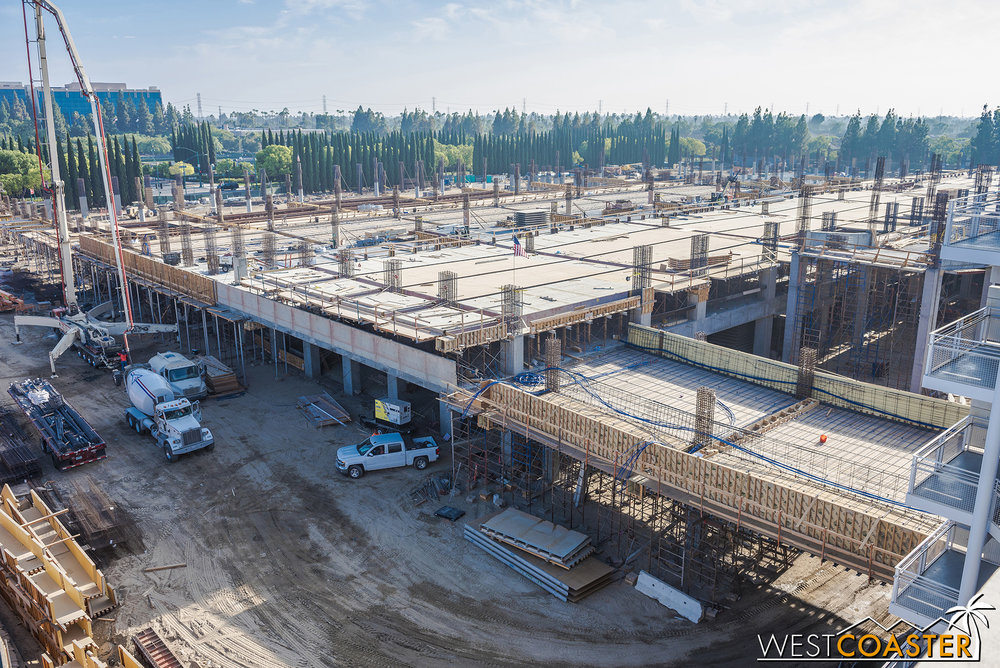 The formwork and rebar for the floors are going up fast!