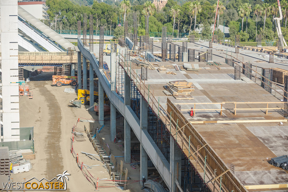 The ramps to 2 and 3 are near completion.  The ramps to levels 4, 5, and 6 are following along.