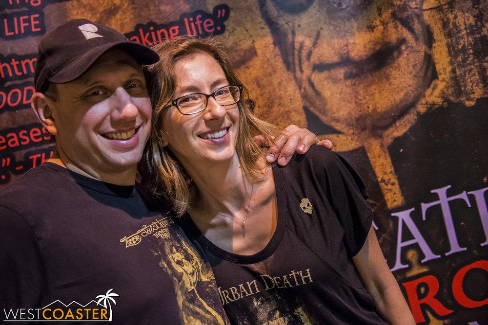 Zombie Joe with co-director, Jana Wimer, at last year's Urban Death.