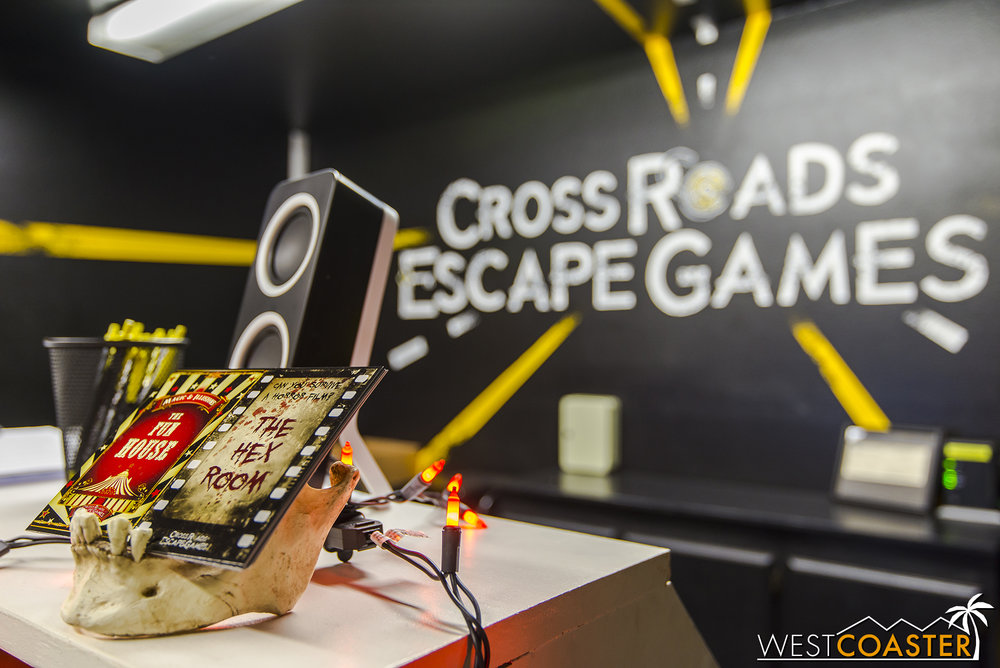 Cross Roads Escape Games has more than one escape room, but The Hex Room is the one that brings a horror movie to life!
