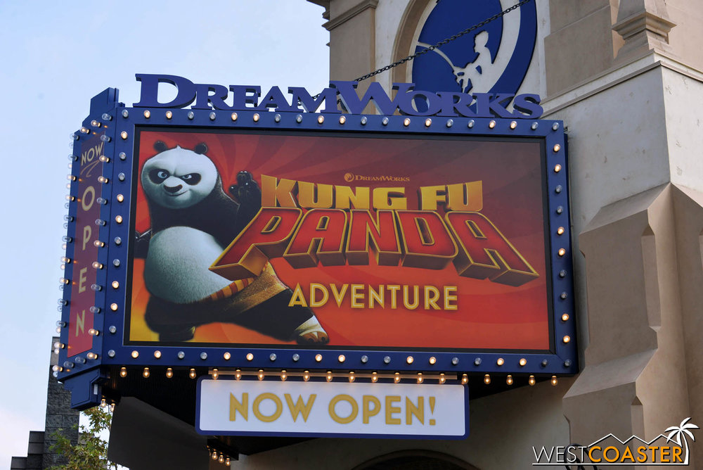 The theater was inaugurated this past June with Kung Fu Panda: The Emperor's Quest.