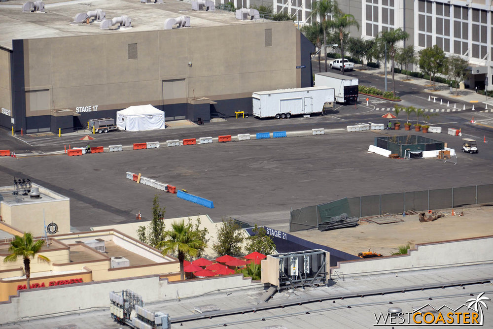 So in the meantime, it gets to be construction staging for Jurassic World.