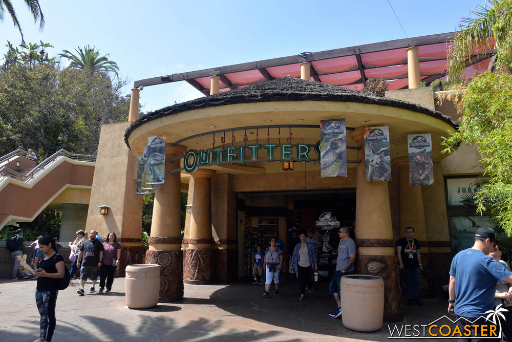 The Jurassic Outfitter was your one stop shop for JP souvenirs.