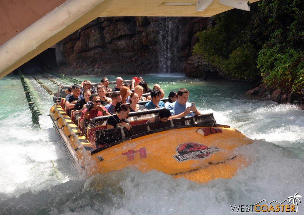 Hey, dude, Y U on your phone on water ride??