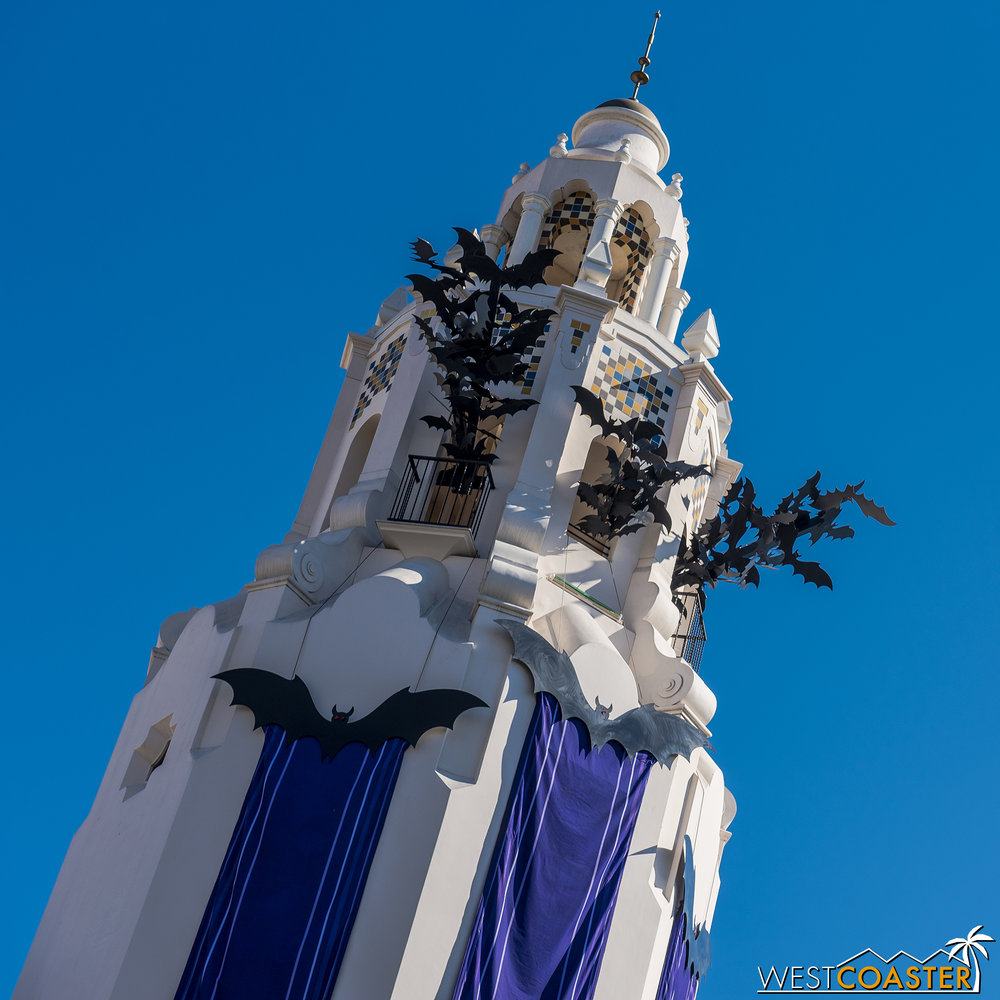 Carthay Circle Restaurant's iconic tower is now a belfry.