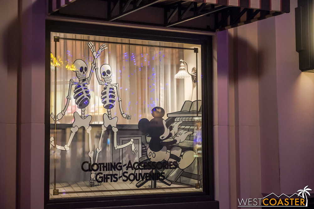 The Buena Vista Street storefronts have been updated with some spooky decor!