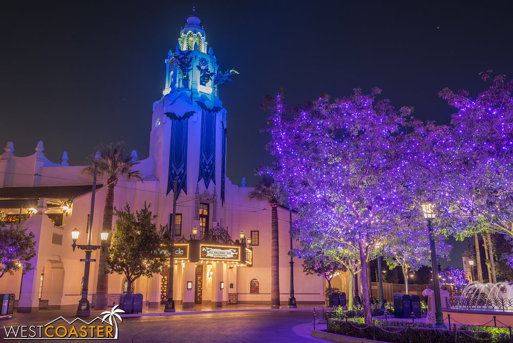 Carthay Circle at night.
