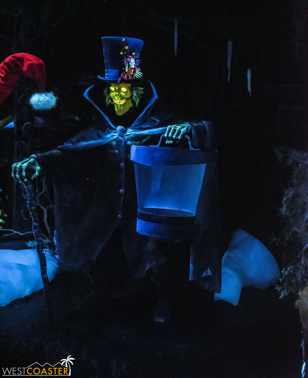 The Hatbox Ghost is in his holiday spookiest.