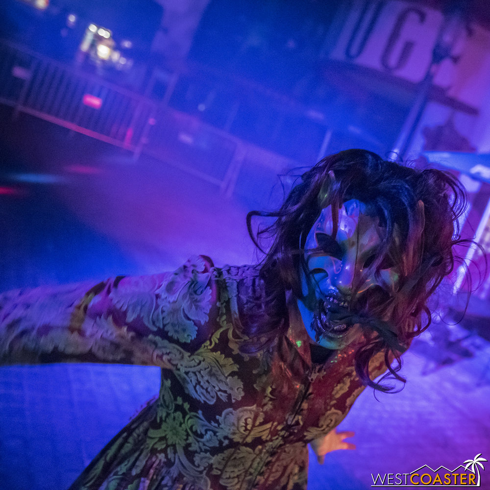 Energetic talent in the Monster Masquerade scare zone.