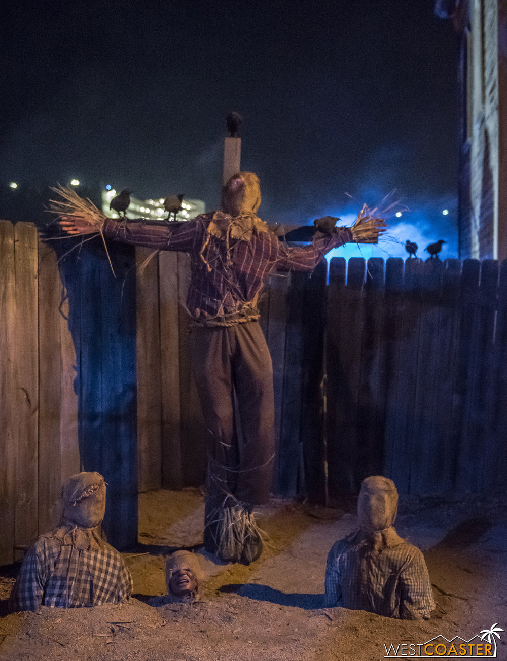 I kind of love the concept of scarecrows planting humans vs the other way around. They could have run even more with it by having the planted humans be harvested as zombies.